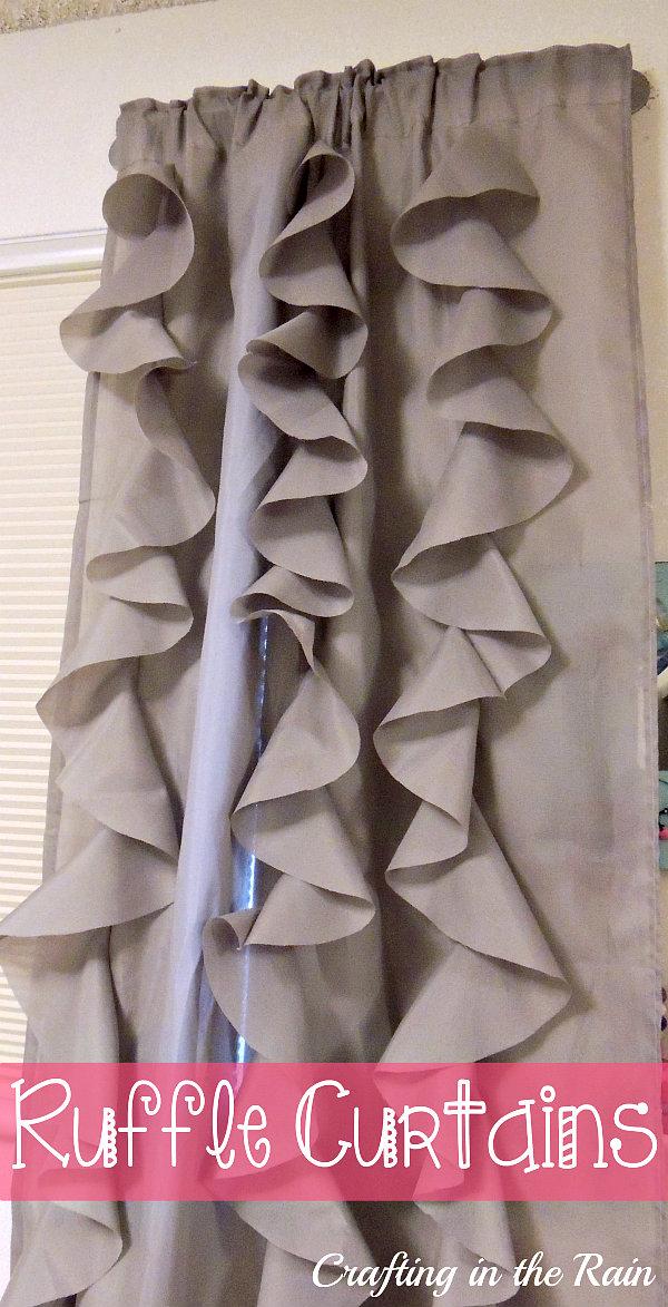 Ruffle Curtains (Circle Ruffles)   Crafting in the Rain