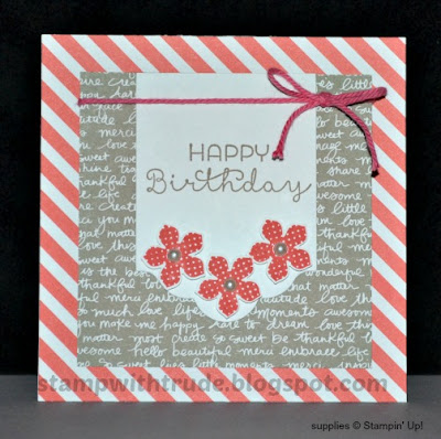 Cottage Greetings, birthday card, Stampin' Up!, #stampinup, Stamp with Trude