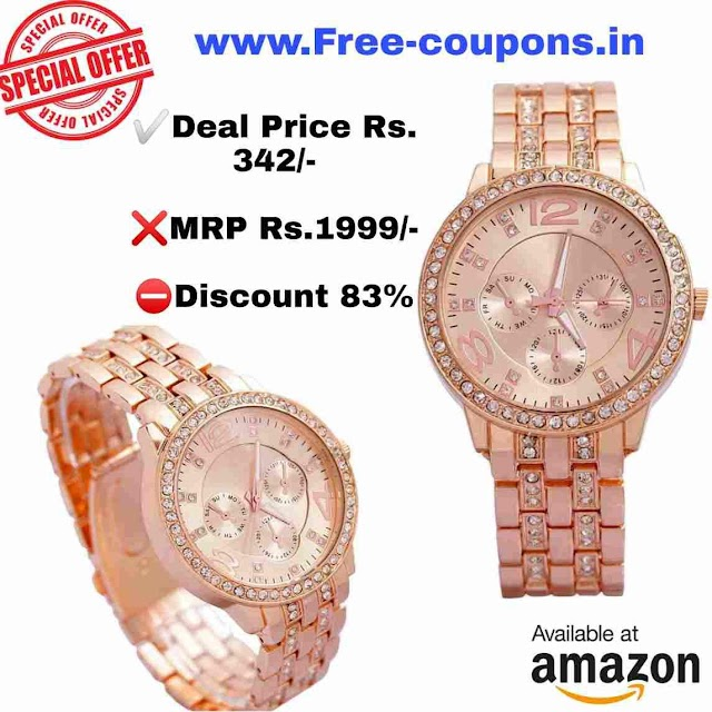 Amazon Offers-Platinum Analog  Dial Women' Watch RS.342