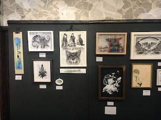 濃黒切り絵展展示風景