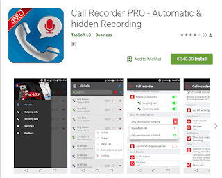 Call Recorder Pro paid android app free download here