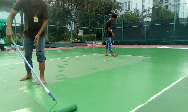 jenis cat lapangan tenis murah