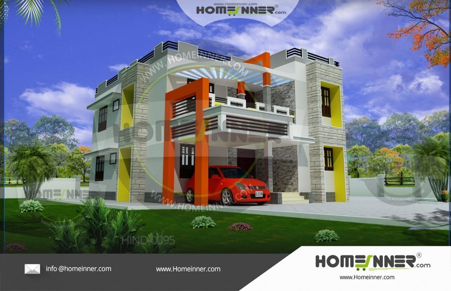 4 Bedroom Simple Home Plan In India