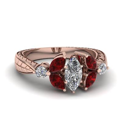Nhẫn đá Ruby, Kim Cương