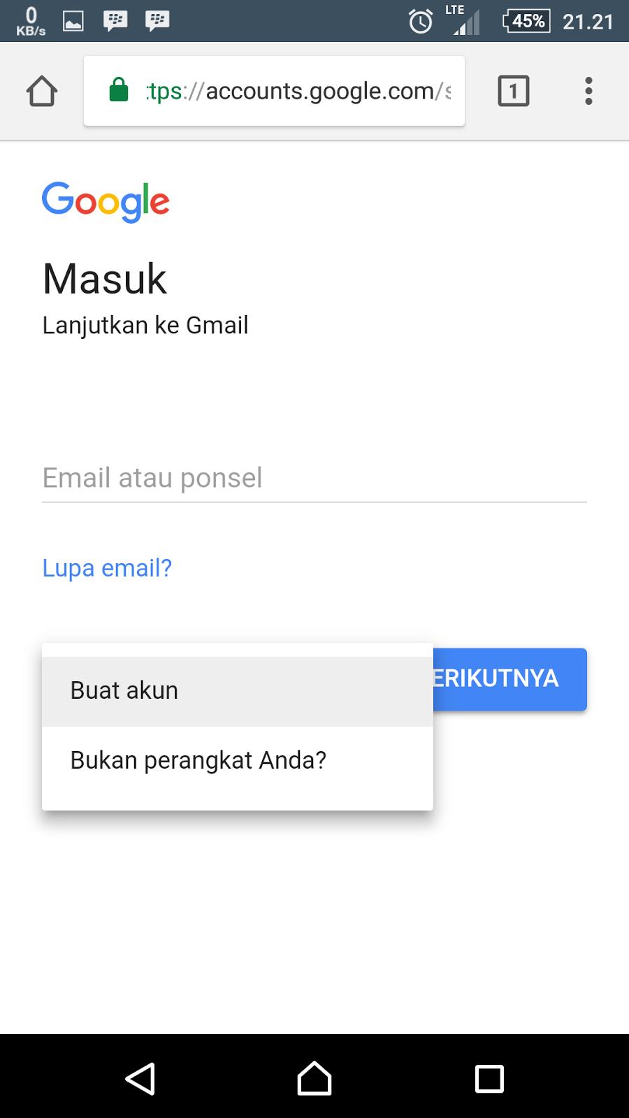 Cara Membuat Akun Gmail dari Google dari Ponsel - RIFANYTOP