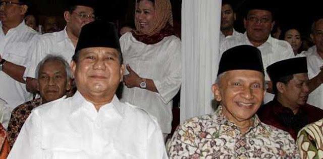 Wajar Ada Yang Tidak Suka, Amien Rais Berpengaruh Menangkan Prabowo-Sandi