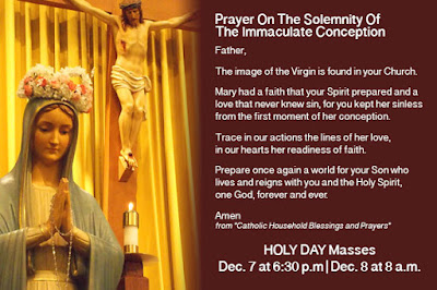 Feast of the Immaculate Conception Day quotes, Prayer