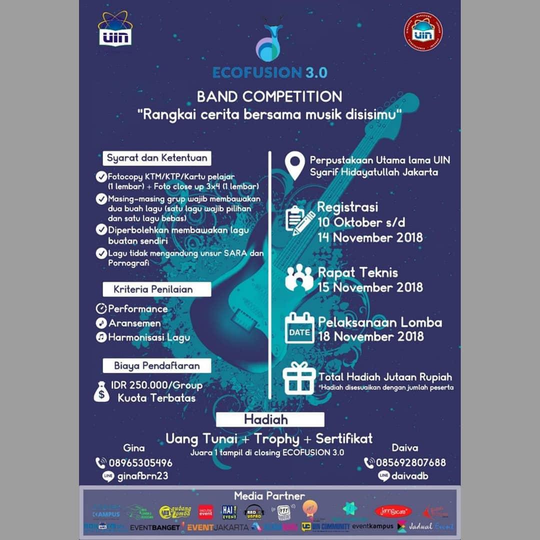 Lomba Band Competition ECOFUSION 2018 Pelajar