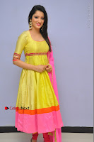 Actress Richa Panai Latest Pos in Yellow Anarkal Dress at Rakshaka Bhatudu Telugu Movie Audio Launch Event  0006.JPG