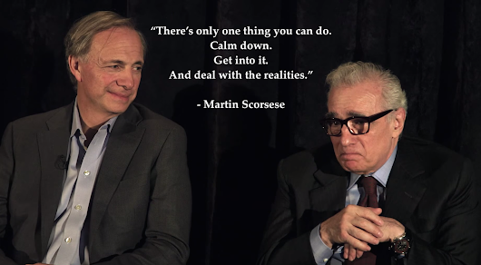 A Conversation With Ray Dalio and Martin Scorsese. On creativity, meditation and success