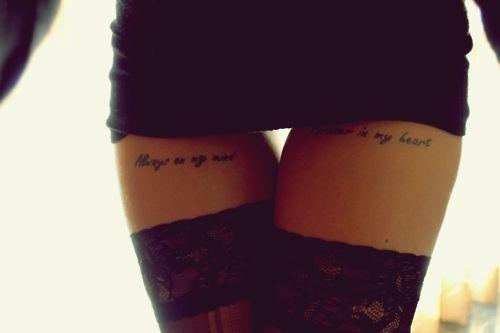 Tatuaje Frase En El Muslo Mujer Sfb