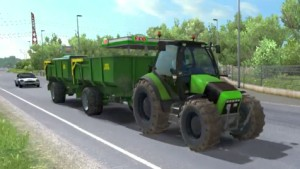 Tractor with trailer and sounds