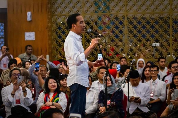Bos tvOne Anindya Bakrie Hadir di Acara Deklarasi Dukungan untuk Jokowi