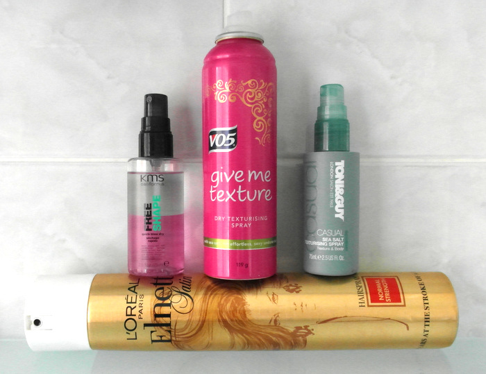 photograph of hair styling products