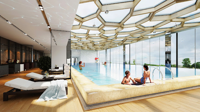 Bể bơi bốn mùa tại chung cư Helios Tower 75 Tam Trinh