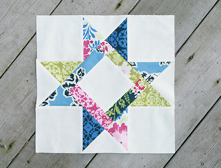 Bright Hopes Star Block Free Tutorial