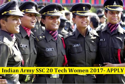 Indian Army SSC 20 Tech Women 2017- APPLY