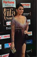Hansika Motwani in Glittering Deep Neck Transparent Leg Split Purple Gown at IIFA Utsavam Awards 05.JPG