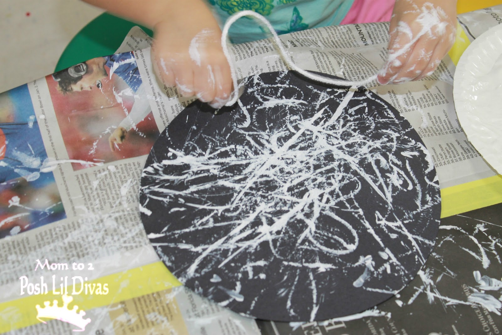 yarn painting preschool - photo #1