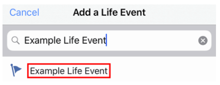 Life Event Facebook