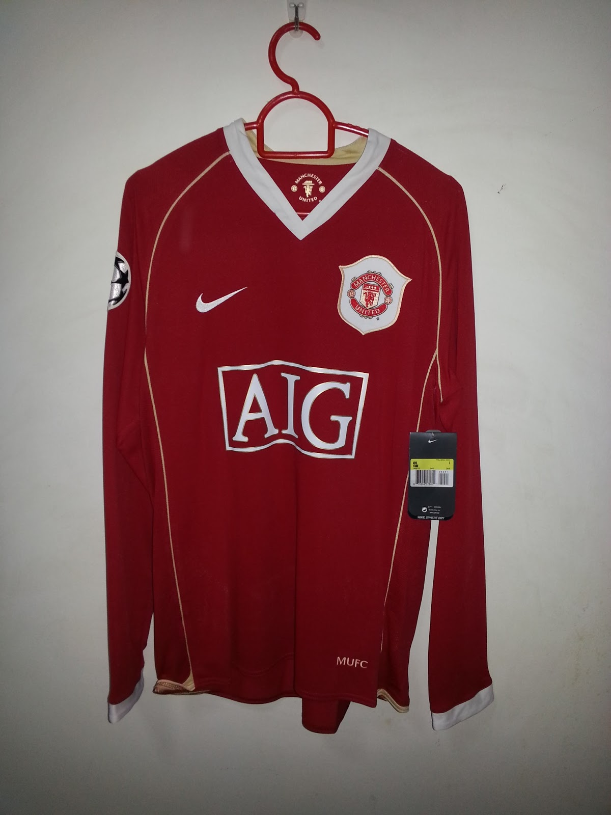 8d7d77769e2 Kits for Sale  2006-07 - Manchester United home shirt LS M BNWT with ...