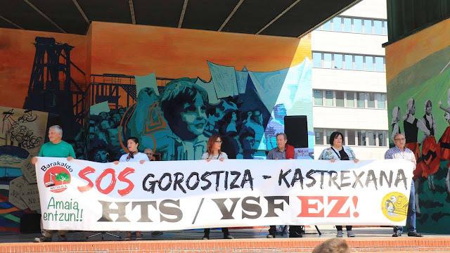 Protesta contra el actual proyecto de la Variante Sur Ferroviaria