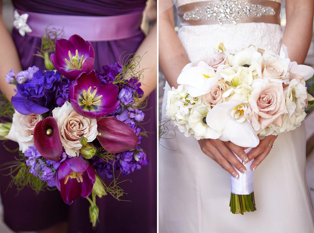 Elegant Eggplant, Ivory & Blush: Sonia & David | Visual ...