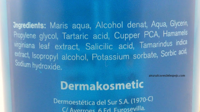 ingredientes tonico facial dermakosmetic