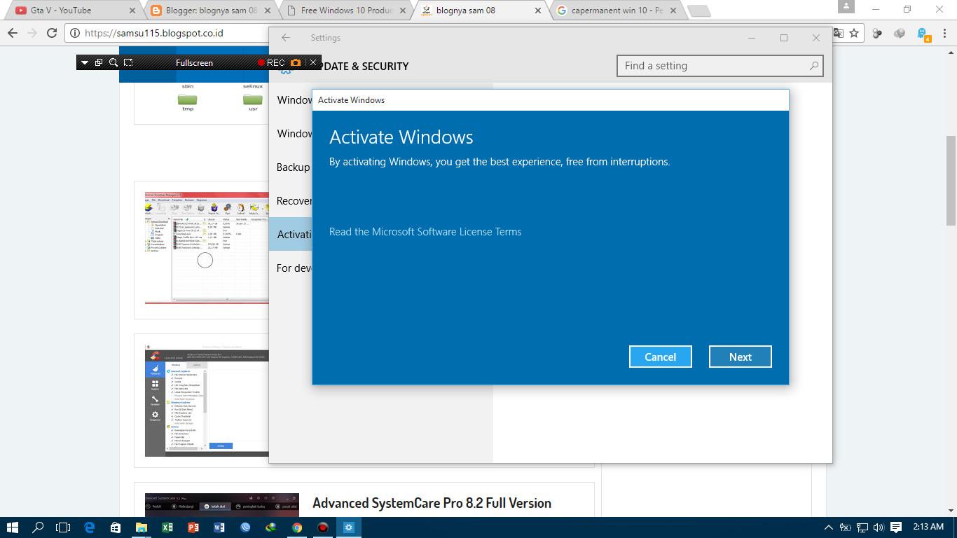 Cara Aktivasi Windows 10 Permanent Dengan Product Key Blognya Sam 08 Lisensi Microsoft Office 2016 Professional Plus Original 5tunggu Hingga Proses Verifikasi Selesai Kemudian Klik Next