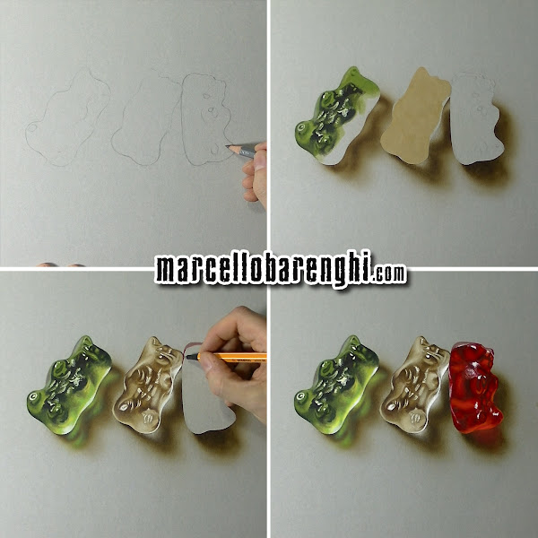 gummy bears drawing marcello barenghi