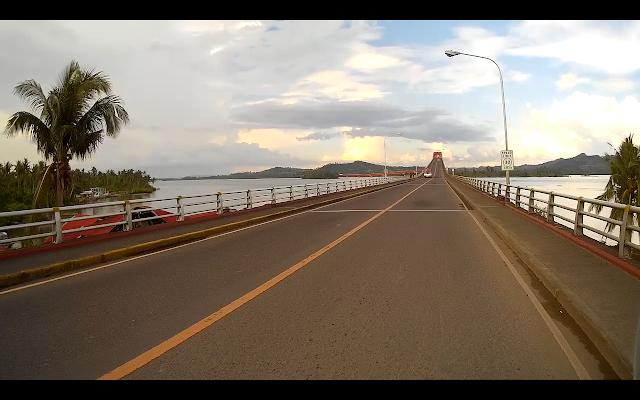 przepiękny długi most na Filipinach San Juanico bridge