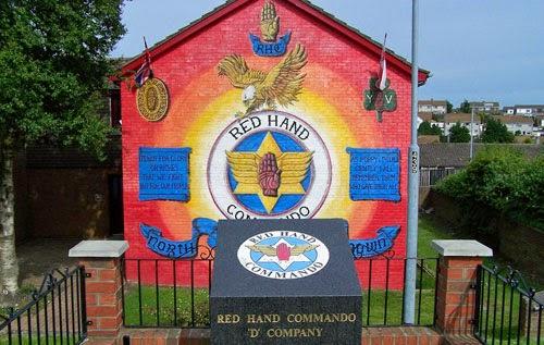 Red Hand Commando mural in Northern Ireland