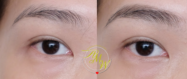 before and after photo of Maybelline Tattoo Brow Ink Pen Review by Nikki Tiu of www.askmewhats.com