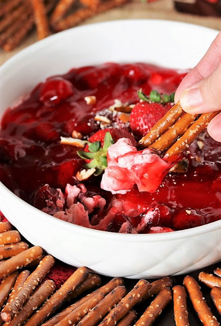 Strawberry Dip with Pretzels Image