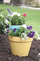 Diy Tiered Terracotta Planter & Address Flower Pot