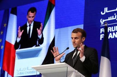 الرئيس الفرنسي ماكرون الصاروخ الذي أطلقته ميليشيات الحوثي على الرياض واضح بأنه صاروخ إيراني