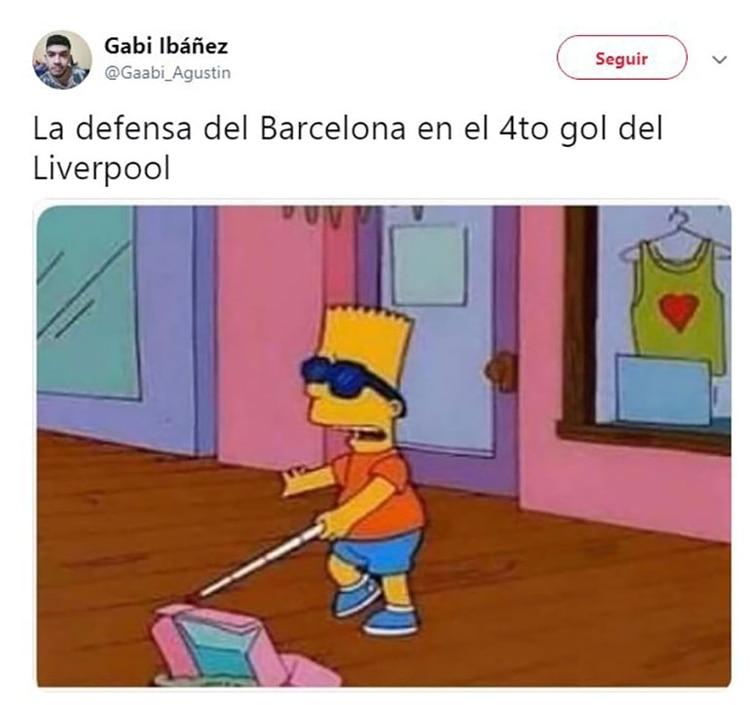 Meme Vignette Divertenti eliminazione Barcellona a Liverpool Foto 9.
