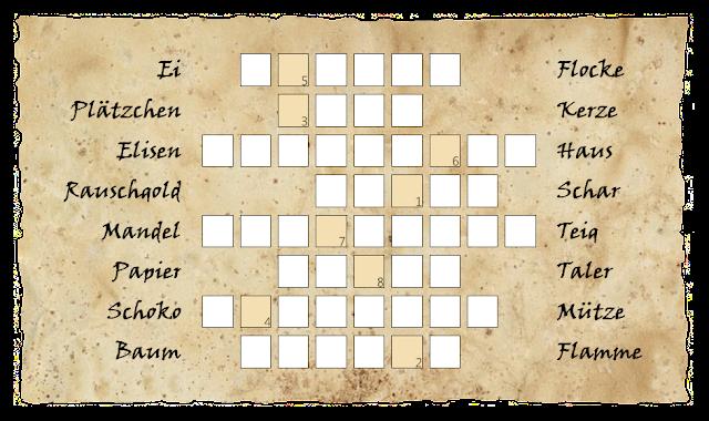 1. Adventsrätsel Brückenwörter