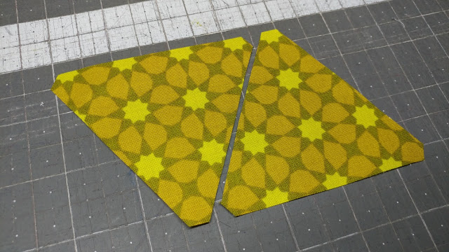Fussy cut triangles