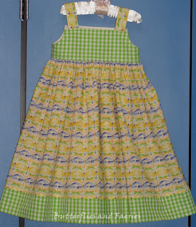 db889ce9dc5a If you click on the photos of this Petal Knot dress you will see the cotton  skirt fabric is printed with rows of dragonflies making stripes across the  ...