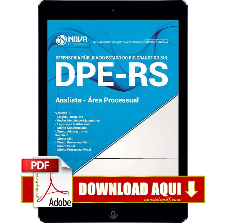Apostila DPE RS 2017 PDF Download Analista Área Processual