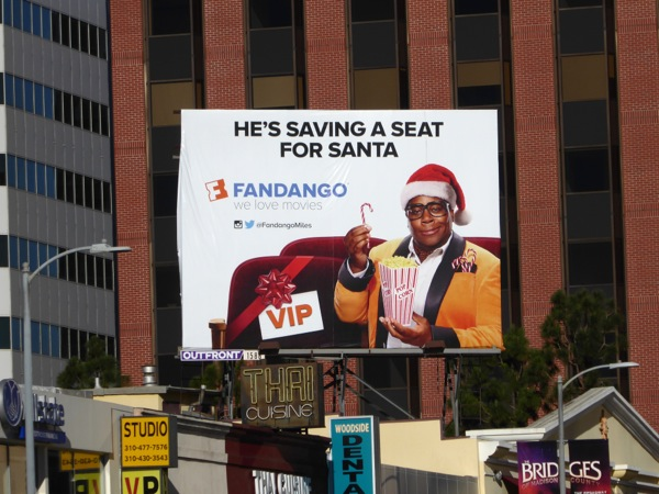 saving a seat for Santa Fandango billboard