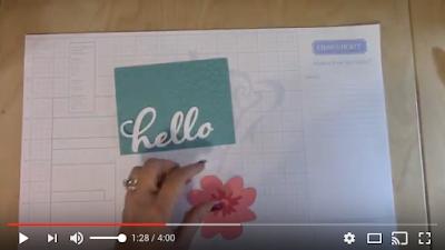 Video Cricut Flower Market Pink Hello Card