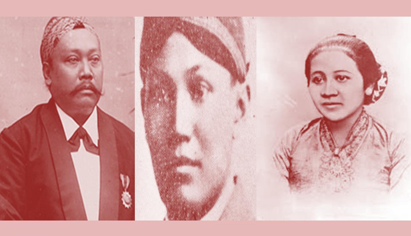 Soesalit diapit ayah dan ibunya, Raden Adipati Ario Djojoadhiningrat dan Kartini
