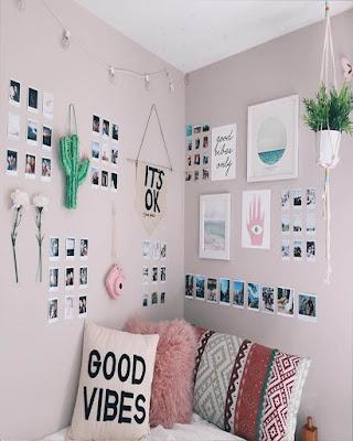 decoracion de cuarto rosa tumblr de moda juvenil