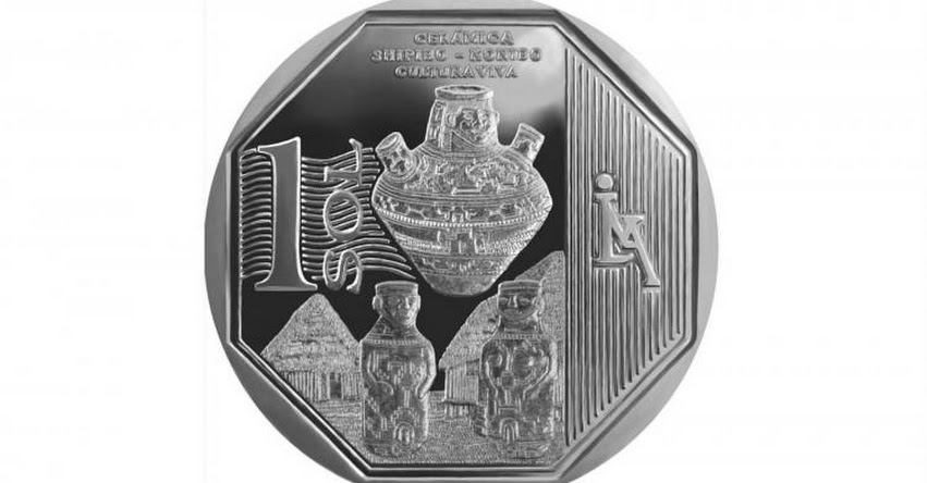 Moneda de un sol alusiva a cerámica shipibo konibo es la mejor del mundo - www.bcrp.gob.pe