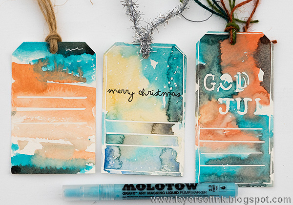 Layers of ink - Quick Watercolor Gift Tags Class Skillshare class