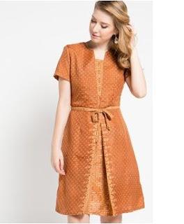 Model Dress Batik Modern Elegan