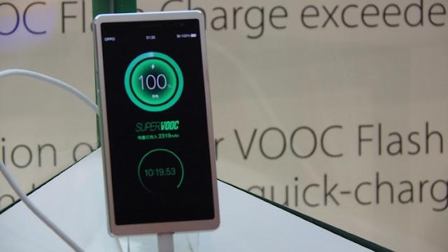 تقنية Super VOOC من أوبو تشحن البطاريات بشكل كامل في ظرف 15 دقيقة