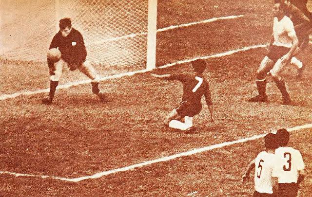 Uruguay y Chile en Copa Juan Pinto Durán 1965, partido de vuelta